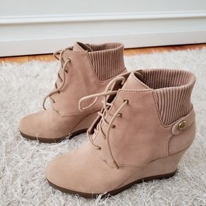 Michael Kors Carrigan Suede Wedges